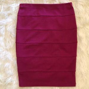 Forever 21 Stretch Mid Length Skirt